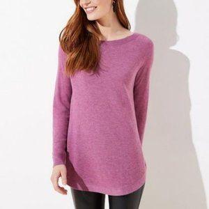 LOFT NWT Kint Shirttail Tunic Sweater - Sz L